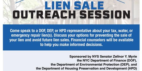 NYS Senator Myrie & Department of Finance Lien Sale Outreach Session tickets
