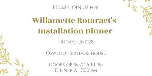 Willamette Rotaract's Installation Dinner