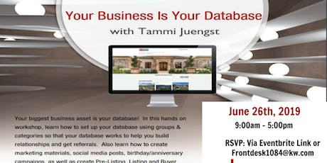 Your Business is Your Datatbase tickets