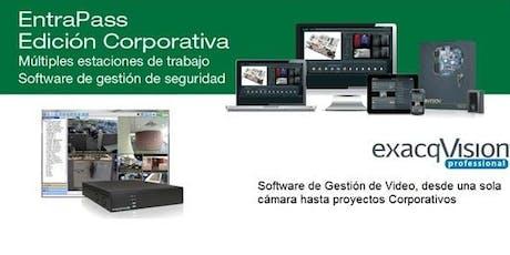 Certificación Entrapass Corporate v8.1 + exacqVision v19.09 - Guatemala- Octubre 29-31, 2019 entradas
