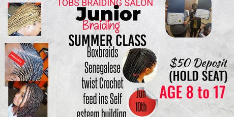 JUNIOR BRAIDING SUMMER CLASS. tickets