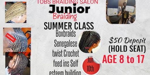 JUNIOR BRAIDING SUMMER CLASS.