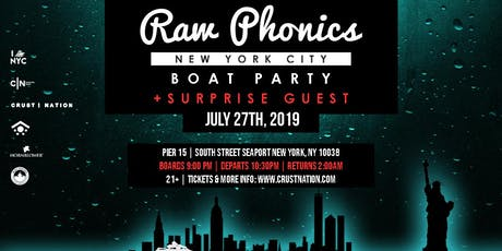 RAW PHONICS NYC Boat Party tickets