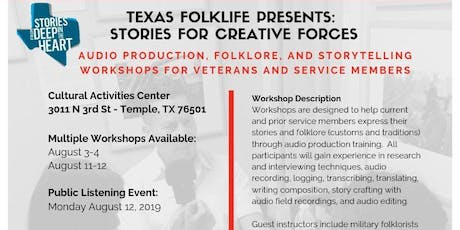 Texas Folklife Presents: Stories for Creative Forces tickets
