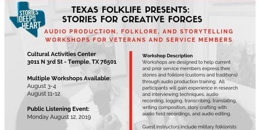 Texas Folklife Presents: Stories for Creative Forces