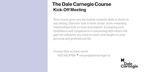 Dale Carnegie Course® - Kick-off (Burlington) tickets
