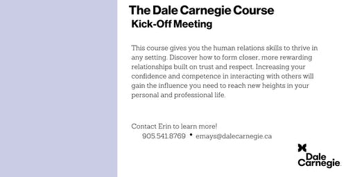 Dale Carnegie Course® - Kick-off (Burlington)