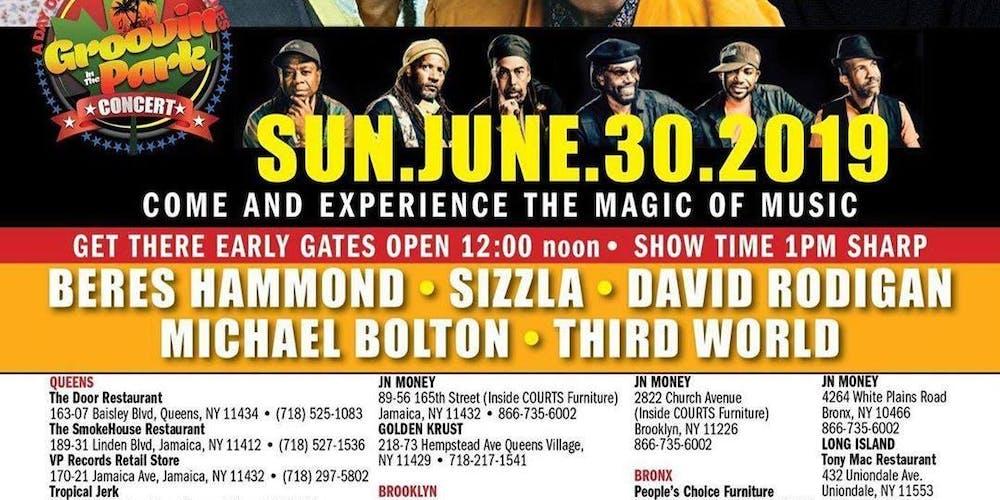 Groovinintheparkfestival Tickets Sun Jun 30 2019 At 1200 Am