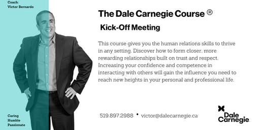 Dale Carnegie Course® - Kick-off (Kitchener)