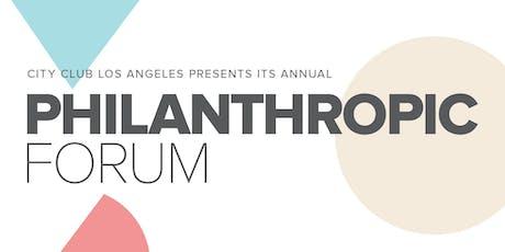 City Club LA's Philanthropic Forum tickets