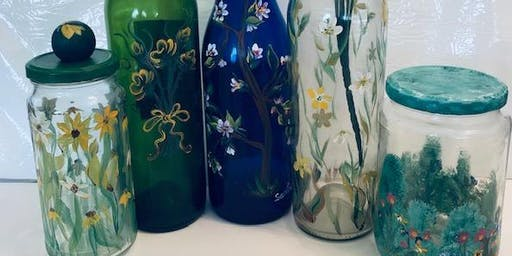 Glass Jar Painting