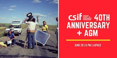 CSIF 40th Anniversary + AGM  tickets