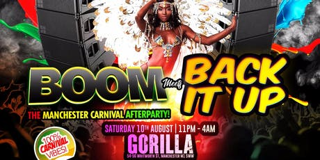 BOOM Meets Back It Up tickets