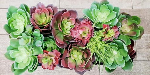 Stars, Stripes, and Succulents Floral Workshop