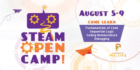 2019 STEAM Open Summer Camp - August tickets