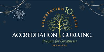 Save the Date! Accreditation Guru's 10th Anniversary East Coast Celebration