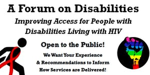 A Forum on Ensuring Access for PLWH with Disabilities