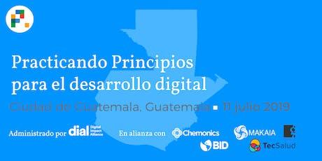 Practicando los Principios para el Desarrollo Digital  boletos