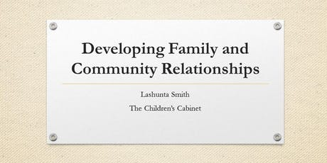 Developing Family and Community Relationships tickets