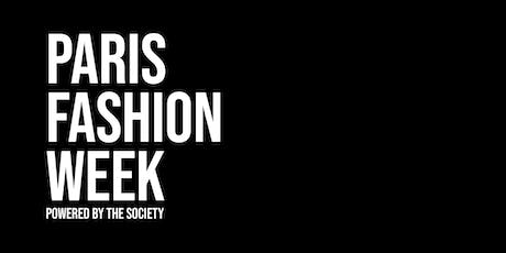 Paris Fashion Week powered by The SOCIETY billets