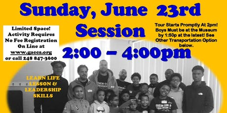 GACCS' MEN ON A MISSION JUNE 23rd WRIGHT MUSEUM  (Sunday 2:00 - 4:00pm) tickets