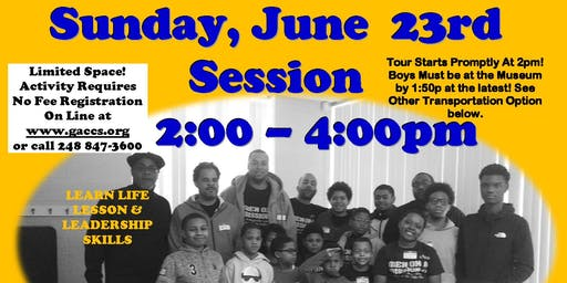 GACCS' MEN ON A MISSION JUNE 23rd WRIGHT MUSEUM  (Sunday 2:00 - 4:00pm)