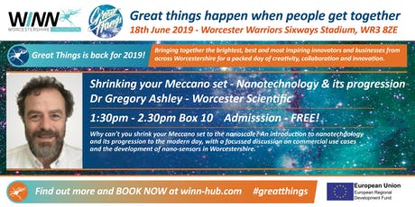 Shrinking your Meccano set - Nanotechnology & its progression; Dr Gregory Ashley - Worcester Scientific tickets