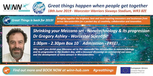 Shrinking your Meccano set - Nanotechnology & its progression; Dr Gregory Ashley - Worcester Scientific