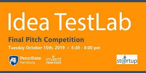 Idea TestLab Final Pitch Competition - October 15th, 2019