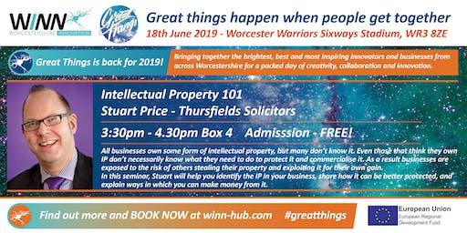 Intellectual Property 101; Stuart Price - Thursfields Solicitors