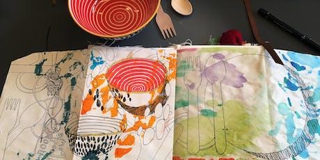 Sketchbook making, art journaling, photography & writing tickets