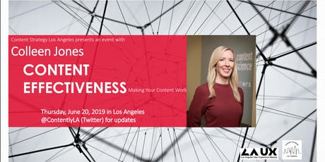 Content Effectiveness: CSLA Presents an Event with Colleen Jones tickets