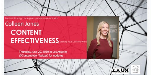 Content Effectiveness: CSLA Presents an Event with Colleen Jones