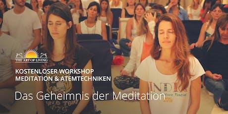 Entdecke das Geheimnis der Meditation - Kostenloser Einführungsworkshop in München Tickets