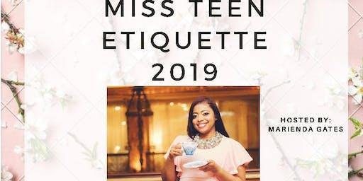 Miss Teen Etiquette 2019
