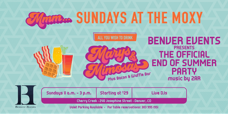 All You Wish to Drink | Benver Events Presents: The Official End of Summer Party at Mmm... Sundays tickets