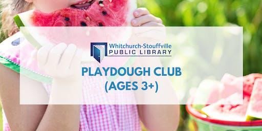 Playdough Club (ages 3+)