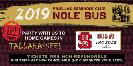 Pinellas Seminole Club Nole Bus Two (vs. NC State) tickets