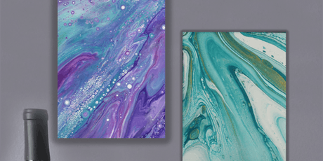 Pour Painting Canvas - Sip & Paint Party Art Maker Class tickets