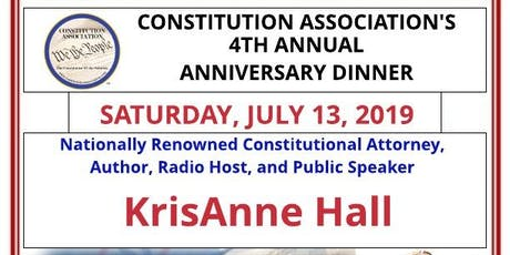 Constitution Association 2019 Annual Dinner with KrisAnne Hall tickets