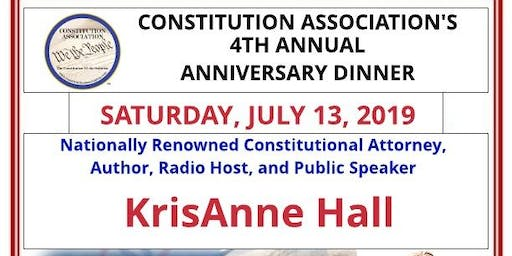 Constitution Association 2019 Annual Dinner with KrisAnne Hall