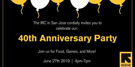 IRC 40th Anniversary  tickets