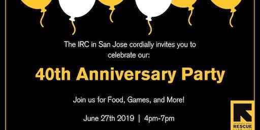 IRC 40th Anniversary