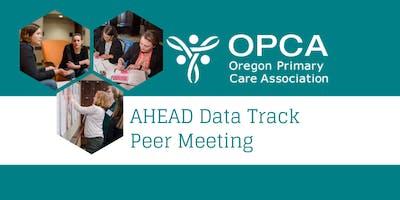 AHEAD Data Track Peer Meeting