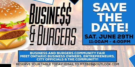 BUSINESS$$ & BURGERS tickets