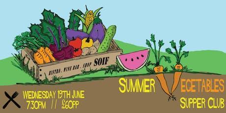 Summer Vegetables Supper Club tickets