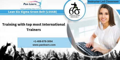 Lean Six Sigma Green Belt (LSSGB) Classroom Training In Fargo, ND tickets
