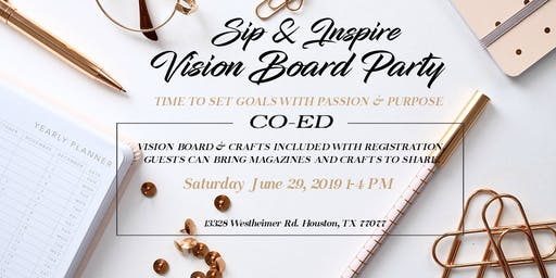 Sip & Inspire CO-ED Vision Board Party