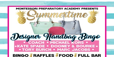 Summertime Designer Handbag BINGO tickets