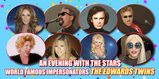 Cher Bocelli,Celine Dion Streisand Vegas Edwards Twins impersomator